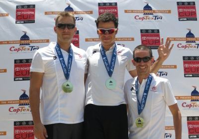 CapTexTri Austin 2012 Team ROTHE Training Olympic Relay Win